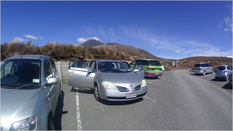 Nouvelle-Zélande Tongariro Alpine Crossing Parking